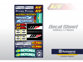 LR DESIGNS HUSQVARNA UNIVERSAL DECAL SHEET