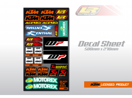 LR DESIGNS KTM UNIVERSAL DECAL SHEET