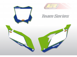 KX / KXF team series number backgrounds
