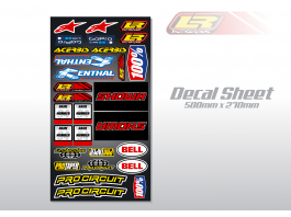 LR DESIGNS UNIVERSAL DECAL SHEET
