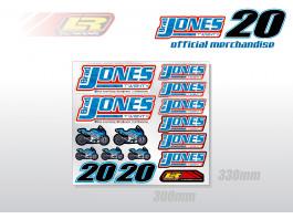 brad jones bsb sticker sheet