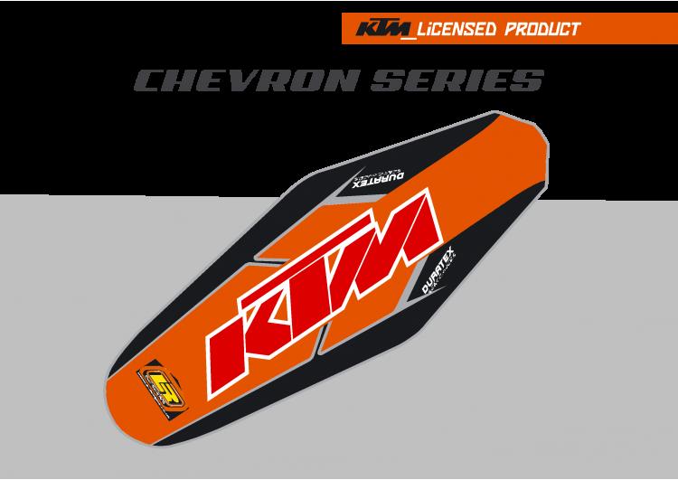 KTM Chevron Duratex Seat Cover – Orange/Black