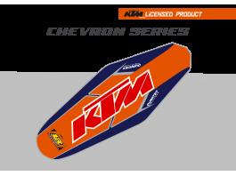 KTM Chevron Duratex Seat Cover – Orange/Blue