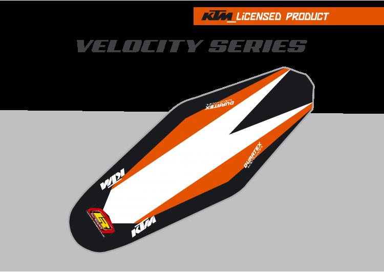 KTM Velocity Duratex Seat Cover – Orange/Black