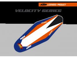 KTM Velocity Duratex Seat Cover – Orange/Blue