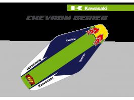 KX / KXF Chevron Duratex Seat Cover – Green/Blue