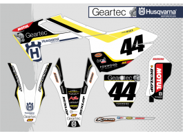 GEARTEC HUSQVARNA DECAL KIT