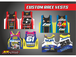 LR designs custom race vest