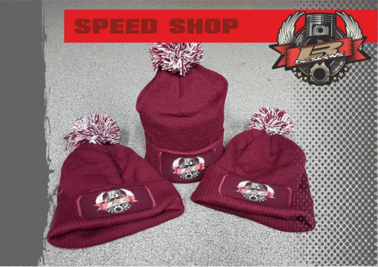 LR Designs Speed Shop Bobble Hat