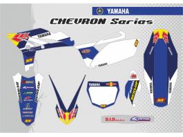 YAMAHA CHEVRON DECAL KIT - BLUE / BLUE